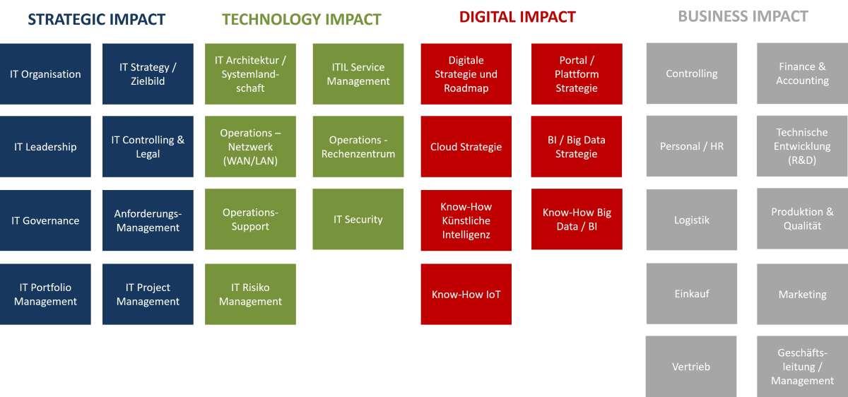IT-Assessment 4 Bereiche